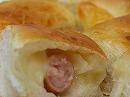 チーズとソーセージのパン
